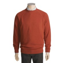 Kinross Cashmere Top-Stitch Sweater - Raglan Sleeves (For Men) in Russet/Barley - Closeouts
