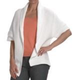 Kinross Cotton Basket Weave Cardigan Sweater - 3-Ply, 14-Gauge, Short Sleeve (For Women)