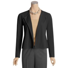 Kinross Cotton Peplum Jacket - Double-Knit (For Women) in Black - Closeouts