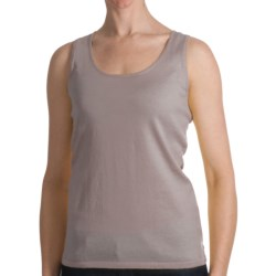 Kinross Cotton Tank Top - 2-Ply, 14-Gauge (For Women) in Sunshine