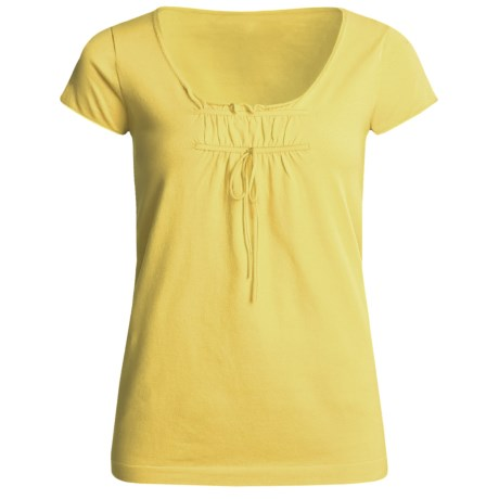 Kinross Cotton Tunic Shirt - Shirred (For Women) in Sunlight