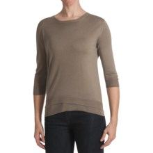 Kinross Lightweight Luxe Shirt - Double Hem, 3/4 Sleeve (For Women) in Twine - Closeouts
