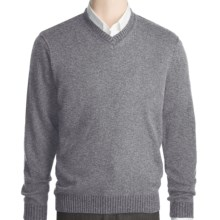 Kinross Plaited Jersey Sweater - Cashmere, V-Neck (For Men) in Zinc/Charcoal - Closeouts