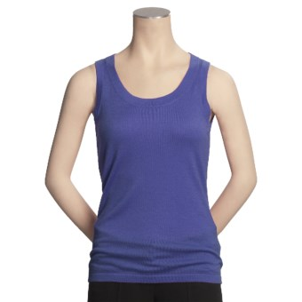 Kinross Worsted Cashmere Tank Top - Scoop Neck (For Women) in Ink