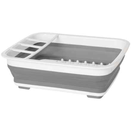 Kitchen Details Collapsible Dishrack in Grey/White - Closeouts
