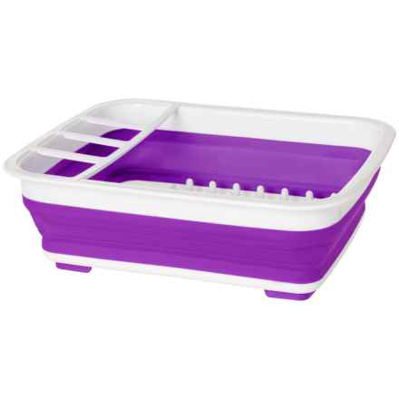 Kitchen Details Collapsible Dishrack in Purple/White - Closeouts