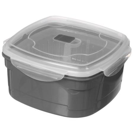 Kitchen Details Microwave Steamer - 85 oz., BPA-Free in Grey