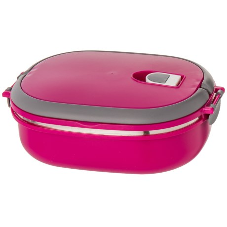 Kitchen Details Oblong Insulated Lunch Box - Stainless Steel, BPA-Free in Fuschia
