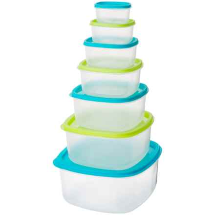 Kitchen Details Rainbow Nested Square Food Storage Containers - 14-Piece, BPA-Free in See Photo - Closeouts