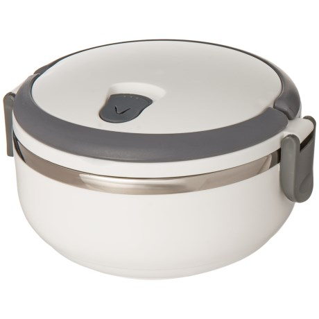 Kitchen Details Round Insulated Lunch Box - Stainless Steel, BPA-Free in White