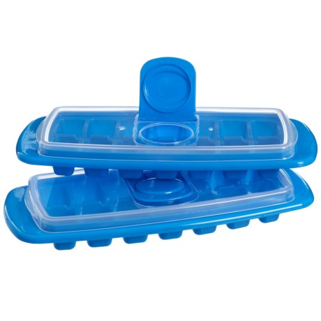 Kitchen Details Spill Proof Ice Tray with Lid - 2-Pack, BPA-Free