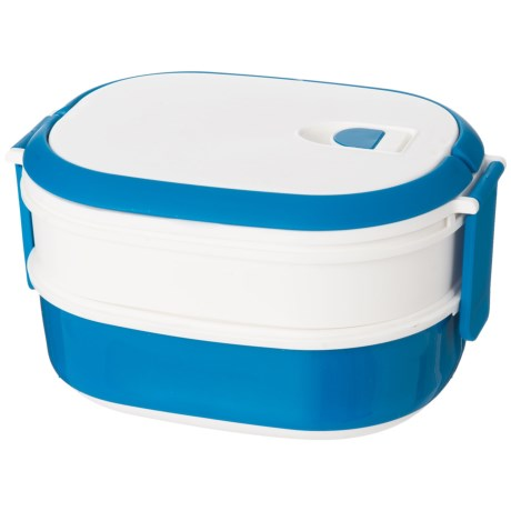 Kitchen Details Two-Tier Microwavable Lunch Box - BPA-Free in Blue