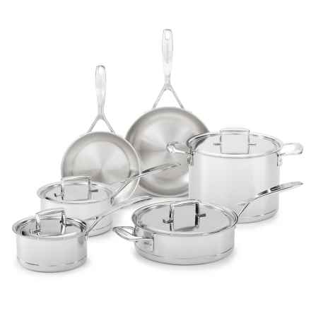 KitchenAid 7-Ply Stainless Steel with Copper Core Cookware Set - 10-Piece in Stainless Steel - Overstock