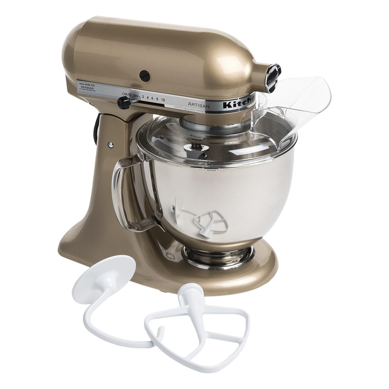 kitchenaid artisan series stand mixer 5 qt in champagne