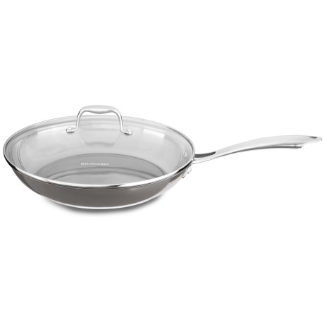 "KitchenAid Skillet with Glass Lid - 12"", Stainless Steel in Stainless Steel"