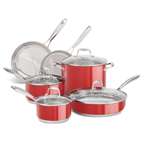 Kitchenaid Stainless Steel Cookware Set 10 Piece