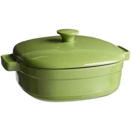 KitchenAid Streamline Cast Iron Casserole Dish with Lid - 4 qt. in Kiwi - Closeouts