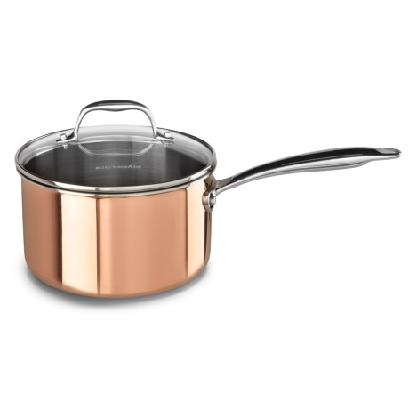 KitchenAid Tri-Ply Copper Saucepan - 3 qt.