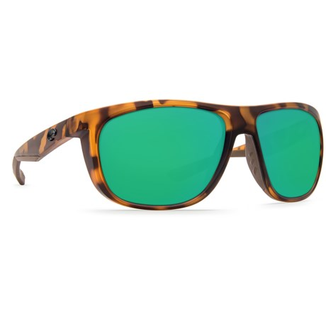 Kiwa Sunglasses - Polarized 580G Glass Lenses (For Men) - MATTE RETRO/TORTOISE GREEN ( )