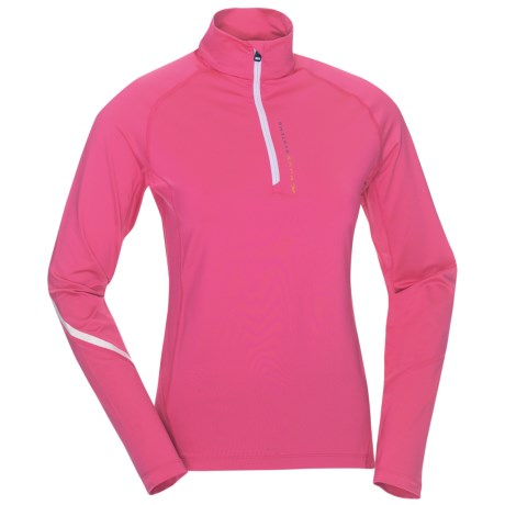 KJUS Balmoral Zip Neck Pullover - Long Sleeve (For Women) in Fandango Pink