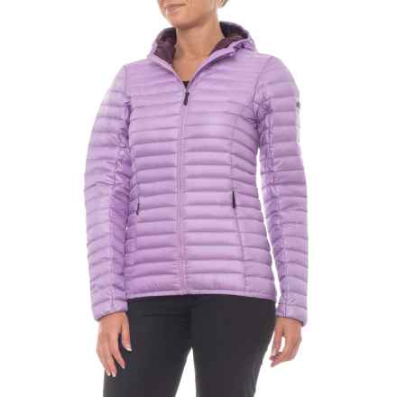 KJUS Cypress Hooded Down Jacket (For Women) in Allium/Mulberry - Closeouts