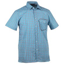 KJUS Destination Shirt - Short Sleeve (For Men) in Blue Danube/Woodbine - Closeouts