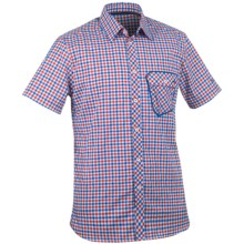KJUS Destination Shirt - Short Sleeve (For Men) in Fiery Red/Nautical Blue - Closeouts