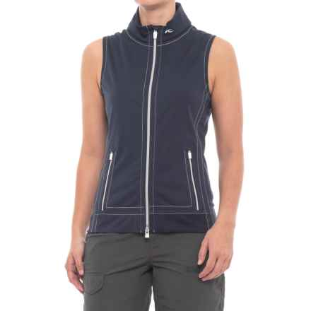 KJUS Drew Soft Shell Vest (For Women) in Atlanta Blue - Closeouts