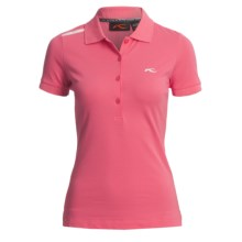 KJUS Greenan Polo Shirt - Short Sleeve (For Women) in Camellia Rose/White - Closeouts