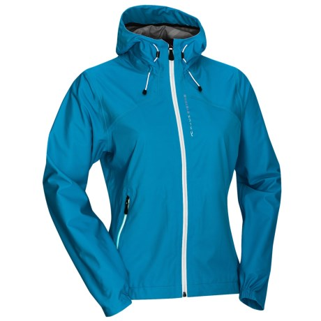KJUS Sequoia Jacket - Waterproof, Soft Shell (For Women) in Blue Danube/White/Persian Violet
