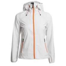 KJUS Sequoia Jacket - Waterproof, Soft Shell (For Women) in White/Flame Orange - Closeouts