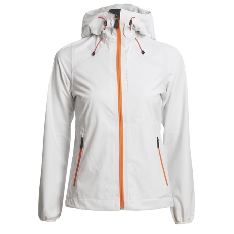 KJUS Sequoia Jacket - Waterproof, Soft Shell (For Women) in White/Flame Orange