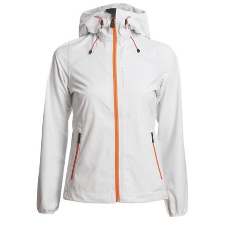 KJUS Sequoia Jacket - Waterproof, Soft Shell (For Women) in White/Flame Orange