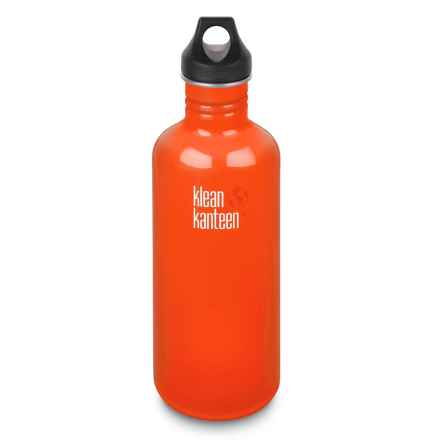 Klean Kanteen Classic Stainless Steel Water Bottle - 40 oz., BPA-Free in Flame Orange - 2nds