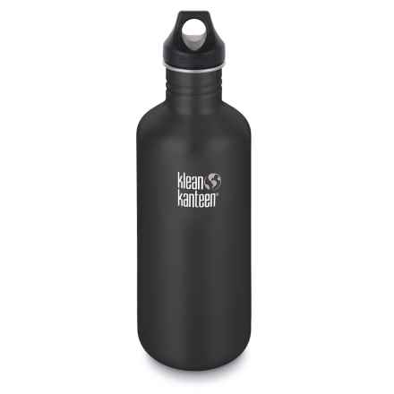 Klean Kanteen Classic Stainless Steel Water Bottle - 40 oz., BPA-Free in Shale Black - 2nds