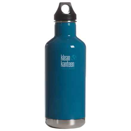 Klean Kanteen Insulated Classic Water Bottle with Loop Cap - 32 oz., BPA-Free in Winter Lake - 2nds