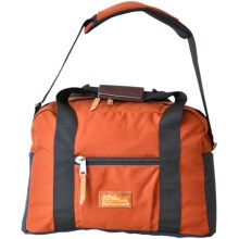 Kleterrwerks Duffel Bag with Shoulder Strap in Rust/Ink - Closeouts