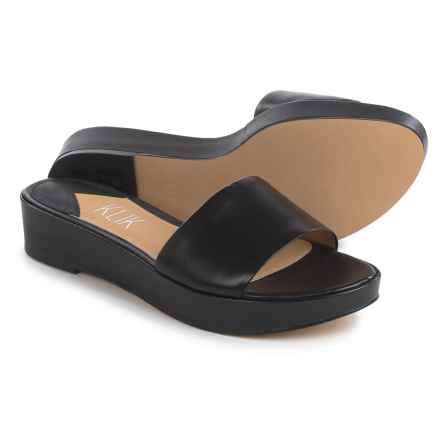 Klik Charli Platform Sandals - Leather (For Women) in Black - Closeouts