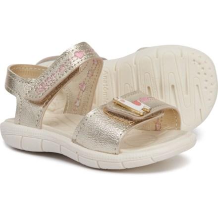 KLIN Llama Sport Sandals - Leather (For Girls) in Golden