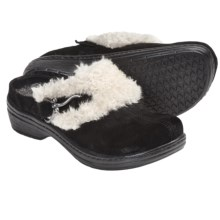 Klogs Bavaria Clogs - Suede, Slip-Ons (For Women) in Black Suede - Closeouts