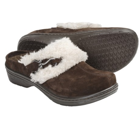 Klogs Bavaria Clogs - Suede, Slip-Ons (For Women) in Coffee Suede