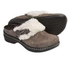 Klogs Bavaria Clogs - Suede, Slip-Ons (For Women) in Taupe Suede - Closeouts