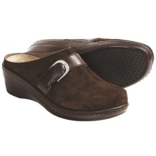 Klogs Bonny Clogs - Leather (For Women) in Coffee Suede - Closeouts