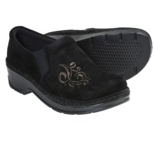 Klogs Naples Clogs - Suede, Closed Back (For Women) in Black Suede Scroll - Closeouts