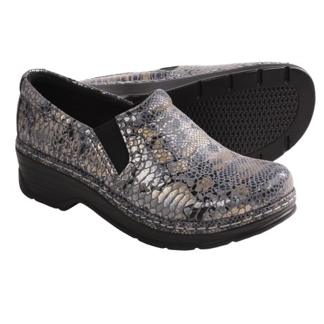 Klogs Naples Leather Clogs - Closed Back (For Women) in Python Print