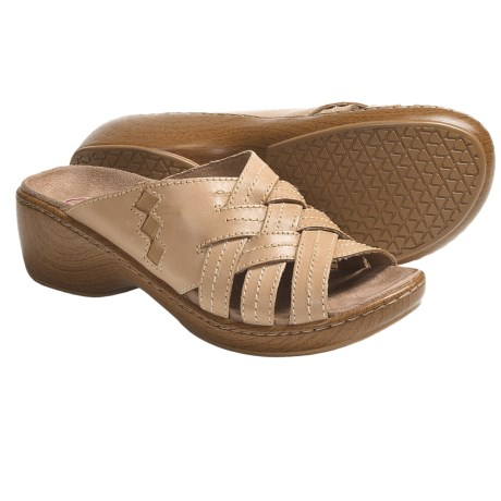 Klogs Tropical Platform Sandals - Leather (For Women) in Tan Smooth