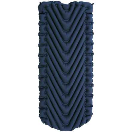 Klymit Static V Luxe Inflatable Sleeping Pad in Blue - Closeouts