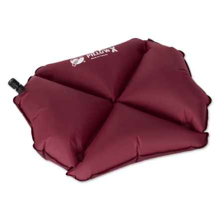 Klymit X Pillow Inflatable Camp Pillow in Burgundy - Closeouts