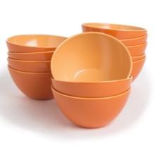 Knack3 Bohemian Brights Bowls - Set of 12 in Orange - Closeouts