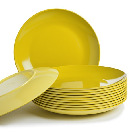 Knack3 Bohemian Brights Dinner Plates 12 Piece 10 Two Tone